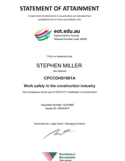 worksafety-certificate