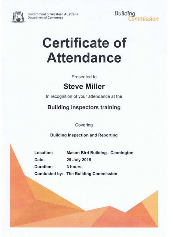 Registered Builder Qualifications Perth Building Inspections